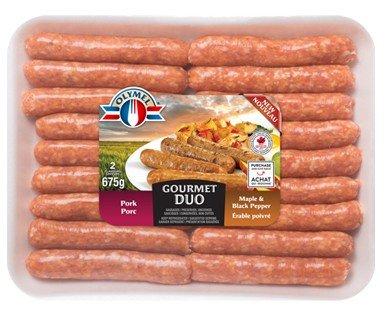 Olymel Saucisses Porc & Érable poivrée