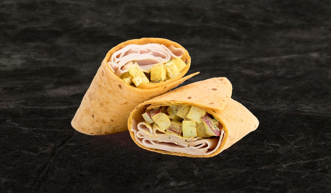 Apple Curry Chicken Wrap